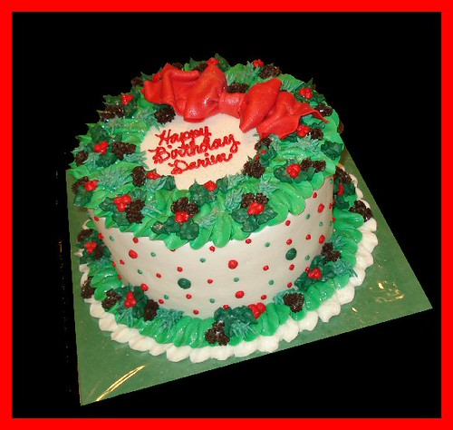 christmas birthday cake for darien by atasteofwhimsy