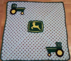 John deere tractor theme baby blanket this is the ...