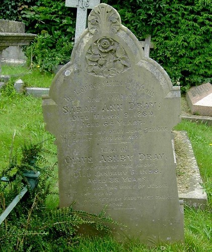 The gravestone of sarah dray and olive ashby dray flickr - Sarah dray ...