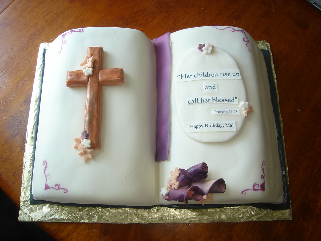 Bible Birthday Cake Kelly Lindquist Flickr
