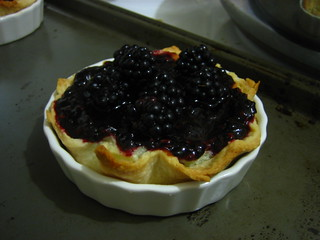 Black Berry Custerd tart | by Mark and Lily