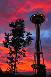 space needle at dawn | by Penseroso