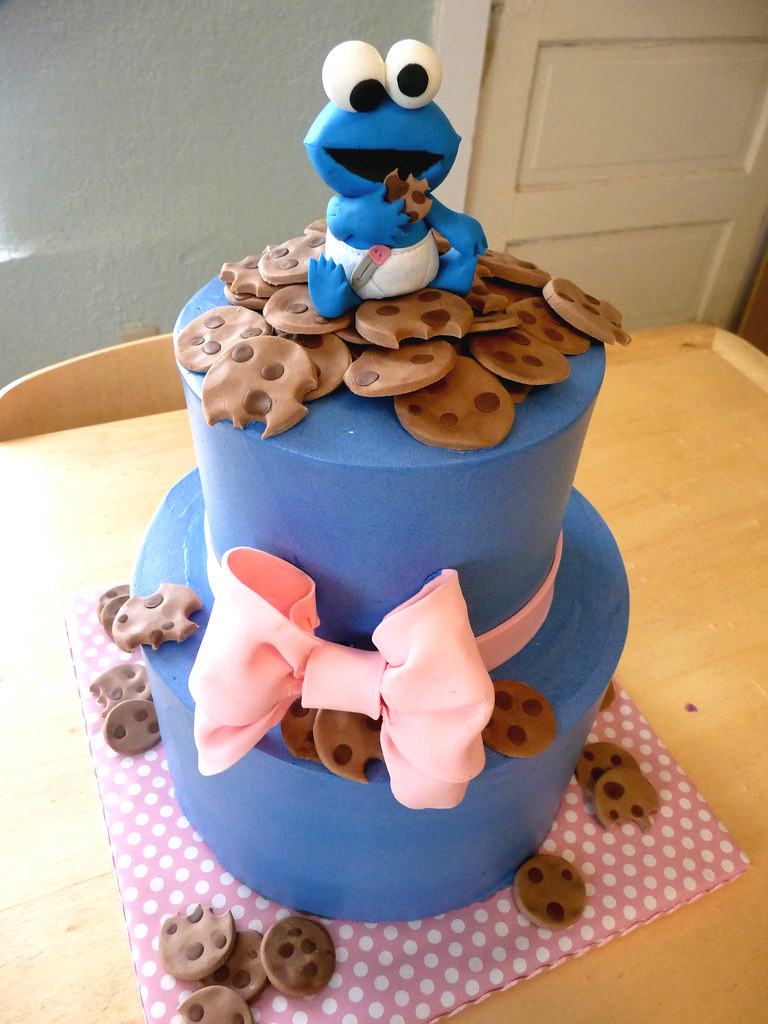 ... Baby Cookie Monster Cake | By Tuff Cookie Cakes By Sylvia