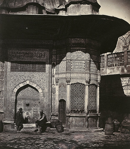 Figures at the Fountain of Sultan Ahmet III, Istanbul 1850 ...