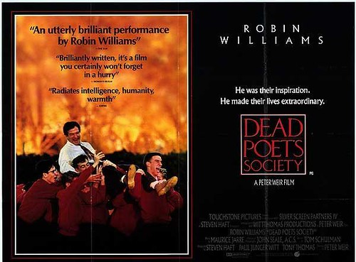 """an examination of the movie the dead poets society It's been my favorite robin williams movie i like that the teacher decided to get  literature out of the technical analysis (""""rip the page out""""), and."""
