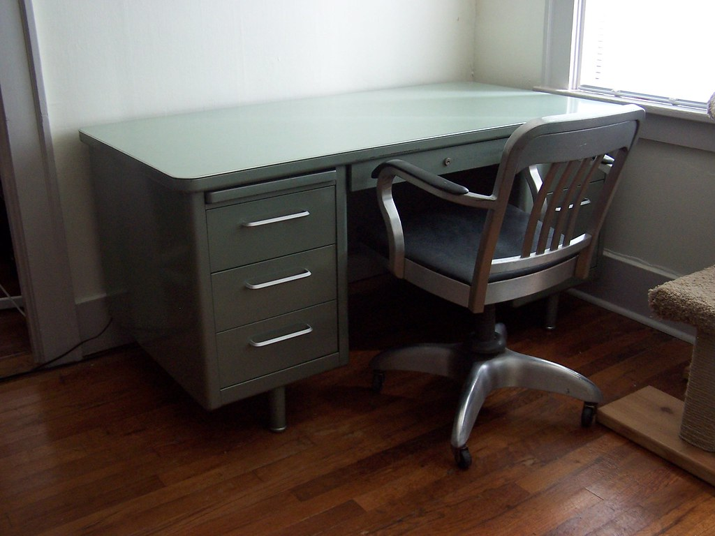 tanker tables off hand desk vintage second