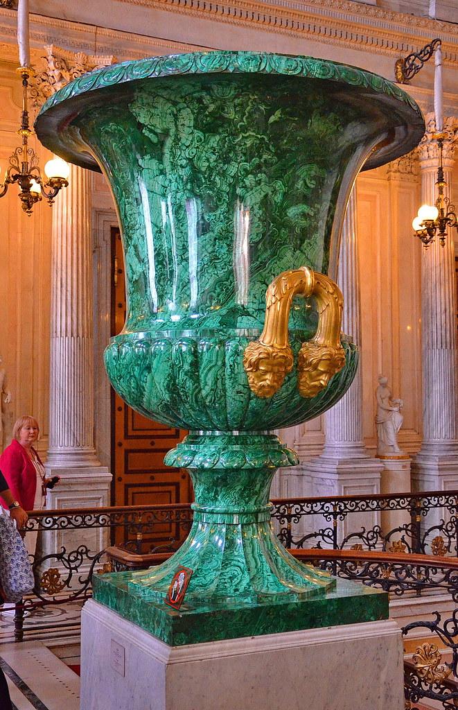 Giant Malachite Vase Hermitage Museum St Petersburg Ru Flickr