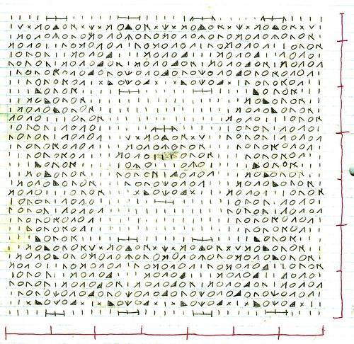 Knitting Charts And Motifs : Lace knitting chart motif with intertwining strands