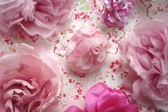 Pink Millinery Blossoms | by such pretty things