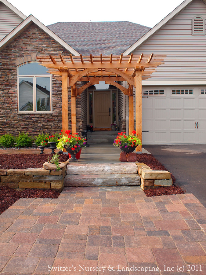 Custom Crafted Front Entrance Cedar Arbor with Borgert Str… | Flickr