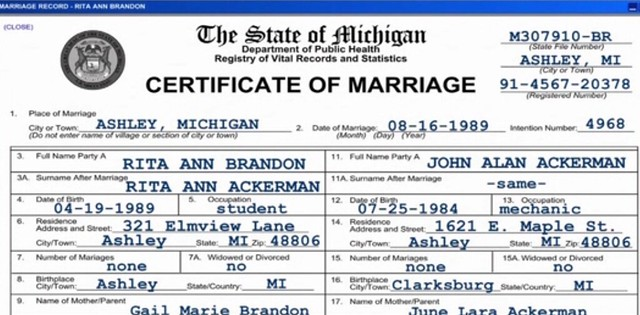 Rita And JohnS Marriage Certificate  The Marriage License   Flickr