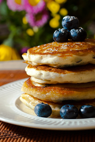 pancakes | blueberries | by sajia.hall