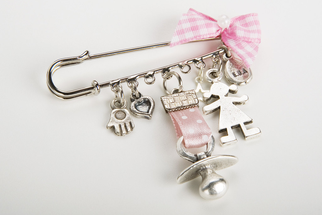 New Mom Baby Girl Jewelry Shower Gift Charm Silver Pin | Flickr