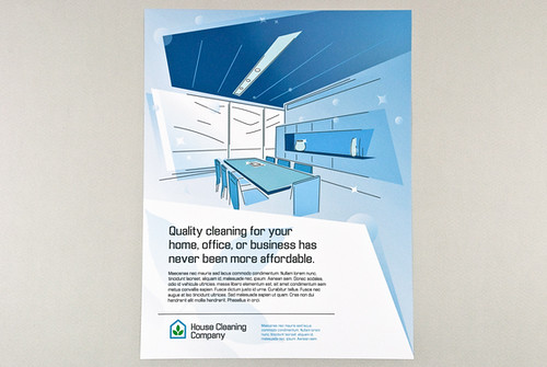 ... Blue Graphic Home And Office Cleaning Flyer | By Inkdphotos
