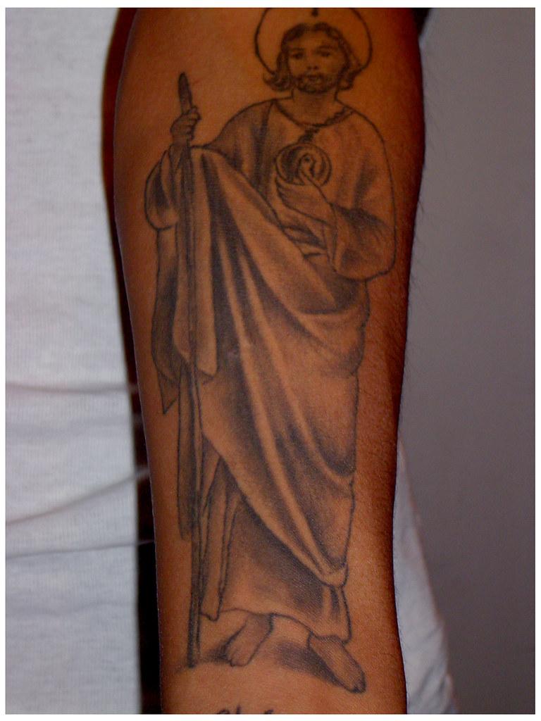 San Judas Tatuaje De San Judas Tadeo Tatuajespiris Flickr