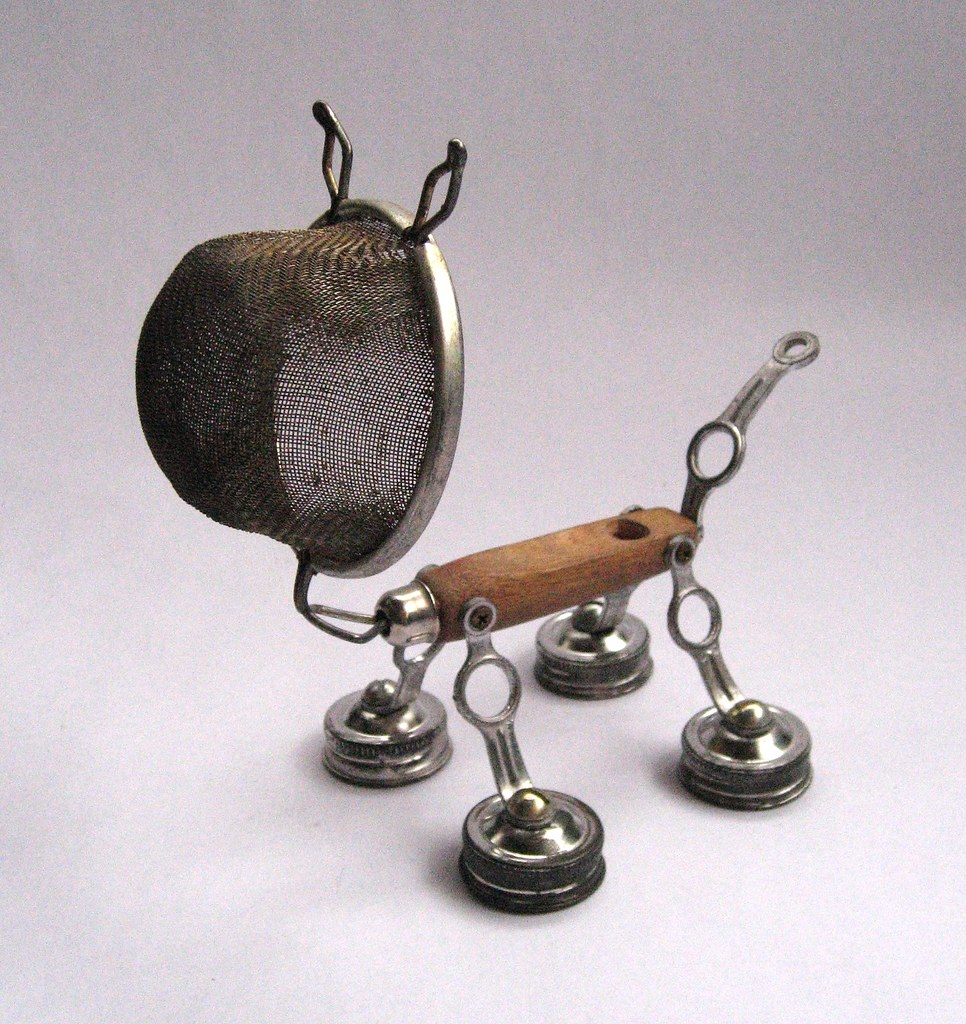 spike robot assemblage sculpture by brian marshall flickr