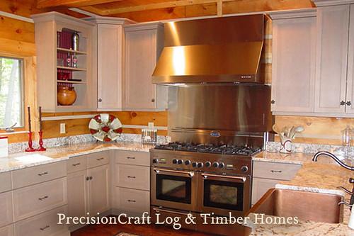 North carolina log home custom kitchen precisioncraft for R kitchen south carolina