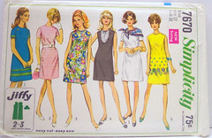 Simplicity 7670 Vintage 60's Sewing Pattern Mod A-line Dress | by Sassy By Design