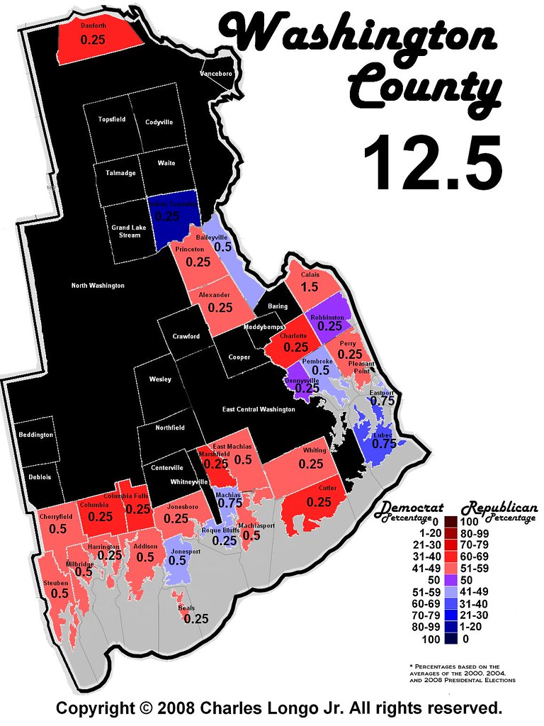 Perry Maine Map.Washington County Maine Political Map Washington County Flickr