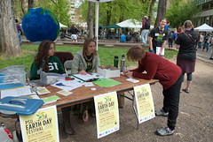 Earth Day info booth | by Portland State University Official Flickr Site