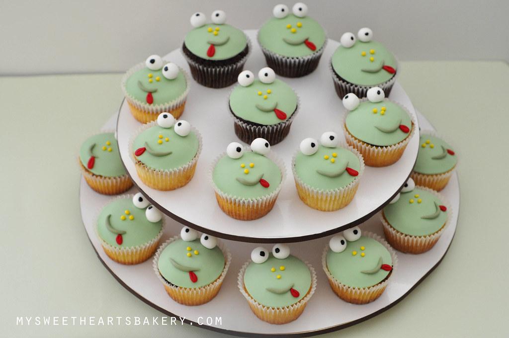 Frog Birthday Cake Cupcake Cookie Mysweetheartsbakery Flickr