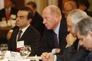 Carlos Ghosn, Nissan; Neville Isdell, Coca-Cola; Sidney Taurel, Eli Lilly | by CECP Photos