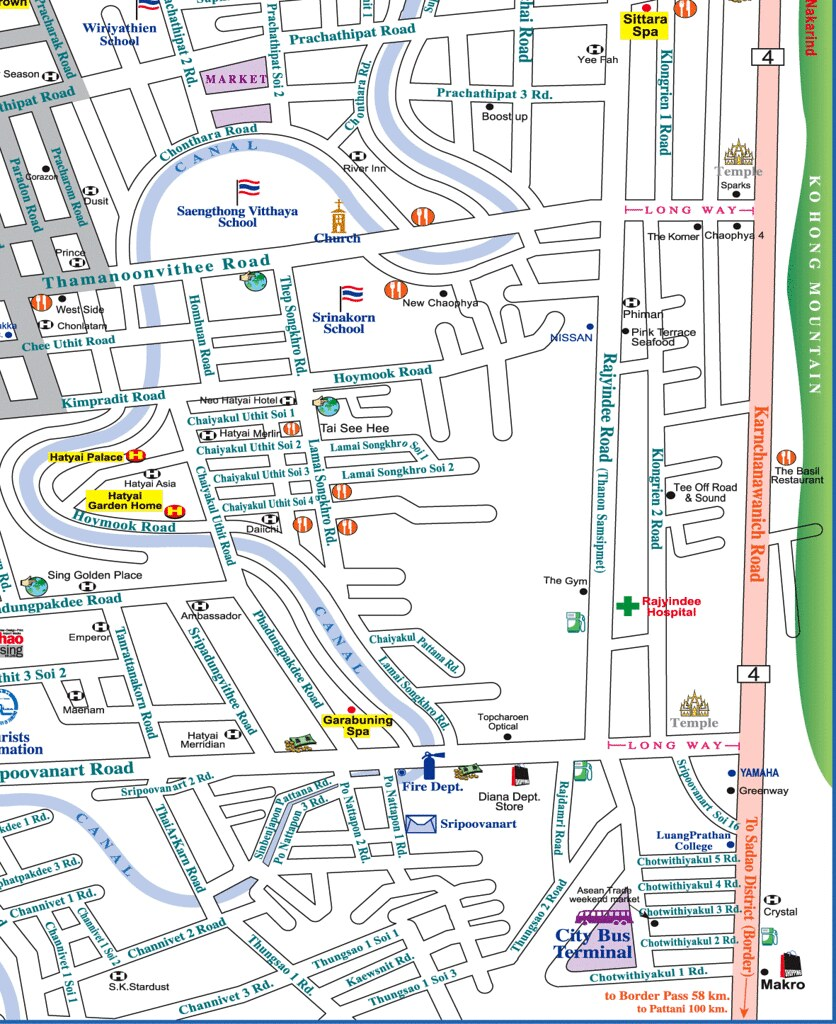 Hat Yai Map 4 philuknethatyaiindexhtml phil uk net Flickr
