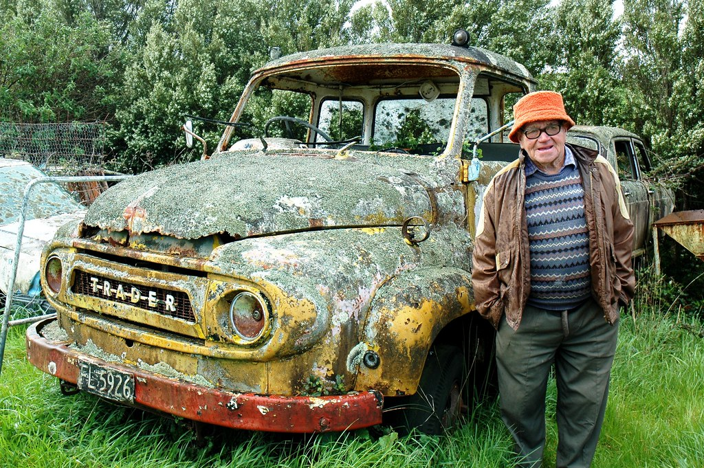 Mr Wilf Boyes and one of his old trucks, a Ford Thames Tra… | Flickr