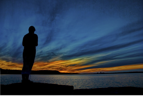 Jenn's Silhouette in HDR-RAW | by Robert Scott Photography