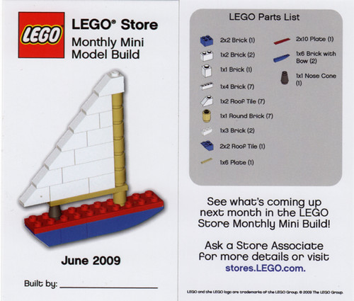 LEGO Store MMMB - June 2009 (Sailboat) | by TooMuchDew