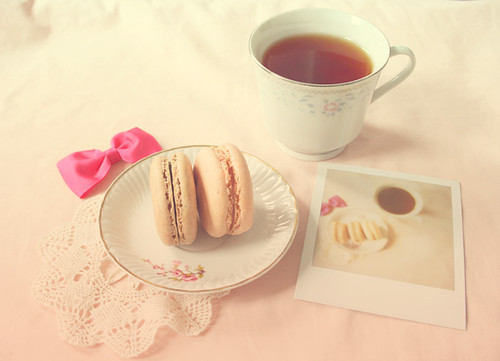 macaroons and tea | by anna-paramita