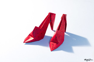 Origami High-Heel Shoes | by antzpantz