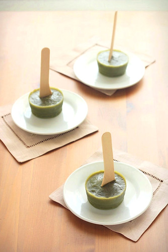 Matcha Green Tea Popsicles (from My Sweet Vegan) | by Xiaolu // 6 Bittersweets