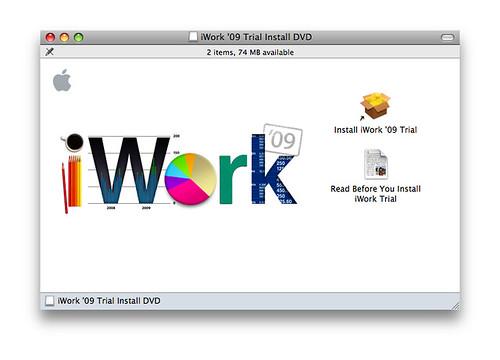 iwork 09 trial
