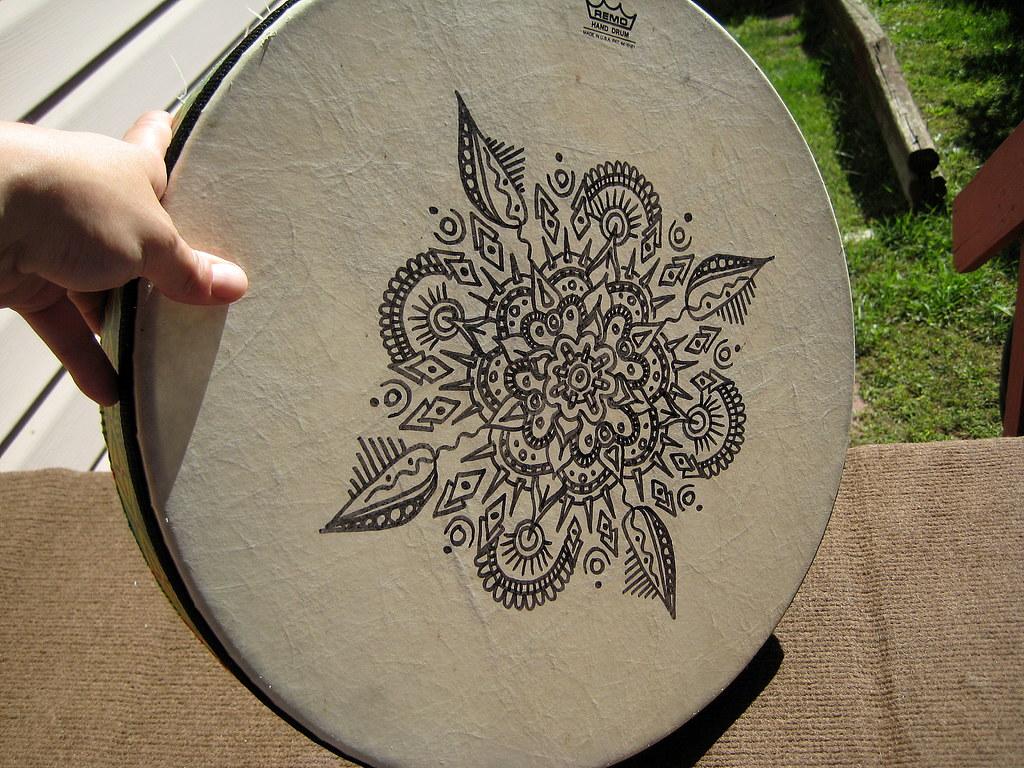 Mandala on Remo Frame Drum | Stephanie Smith | Flickr