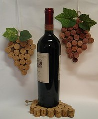 Grape Cluster Wine Cork Decor | by classicrockcreations