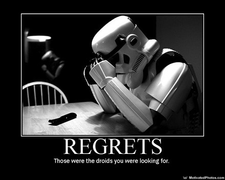 Image result for regret star wars