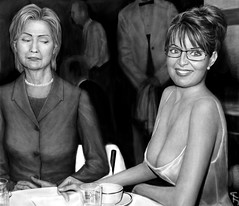 Clinton and Palin | by j.albright