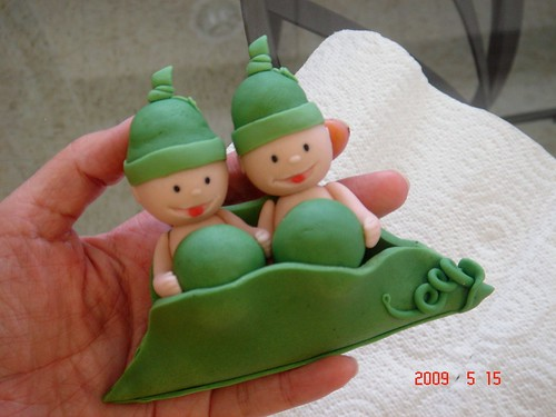 Two Peas In A Pod Baby Shower Cake Topper