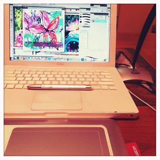 playing with my wacom bamboo pen tablet | by treiCdesigns