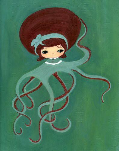 Фото девушка осминожков