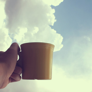 """I had some dreams, they were clouds in my coffee."" 