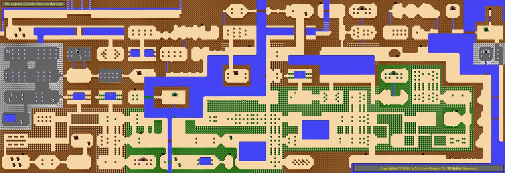 Overworld Map of The Legend of Zelda: Ganon\'s Revenge | Flickr