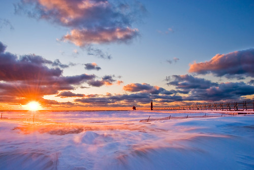 Winter Sunset in Grand Haven | by Jennifer_4444