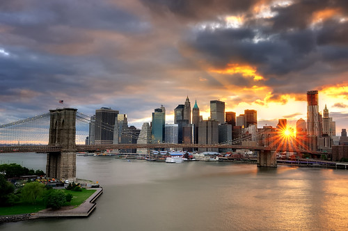 Sunset over the Brooklyn Bridge and Lower Manhattan, New York City | by andrew c mace