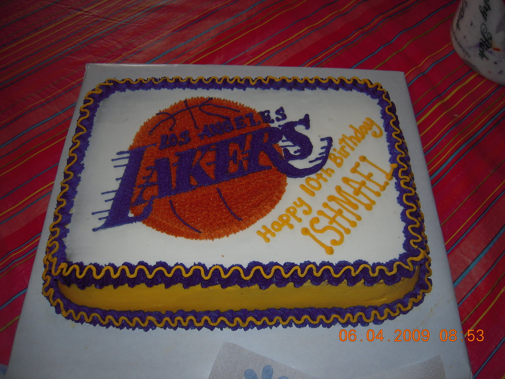 Lakers Birthday Cake All Buttercream Amy Valdez Flickr