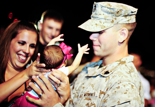 Home from Iraq first time meeting daughter! | by erin dietrich1