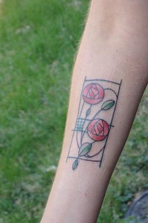 Mackintosh rose tattoo fresh from the first wash flickr for Washing a new tattoo