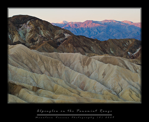 Alpenglow On The Panamint Range | by Mountain Visions