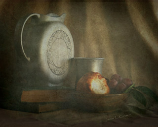 Still Life with Pitcher, Cup, and Bread | by **Jamar**